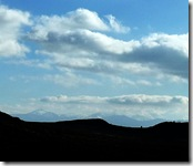 distant cairngorms