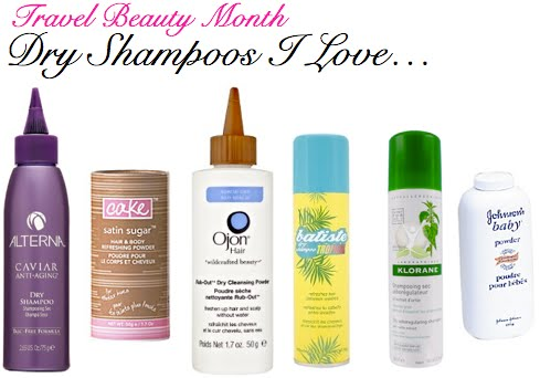 travel beauty + dry shampoos
