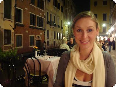 dinner beside venetian canal