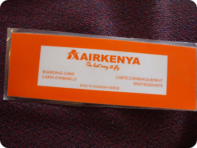 laminated air kenya boarding passes