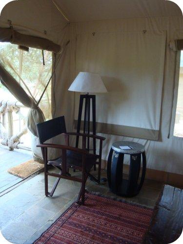 inside tent at fairmont masai mara