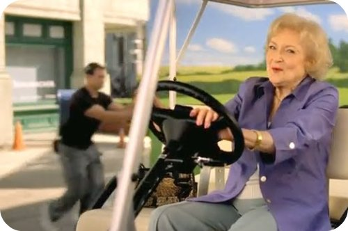 betty white in tourism california video