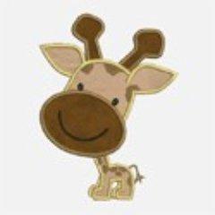 Smiley Giraffe Applique