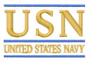"""""""USN"""" Navy Embroidery"""