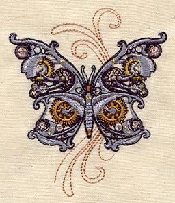 Steam Motif Butterfly