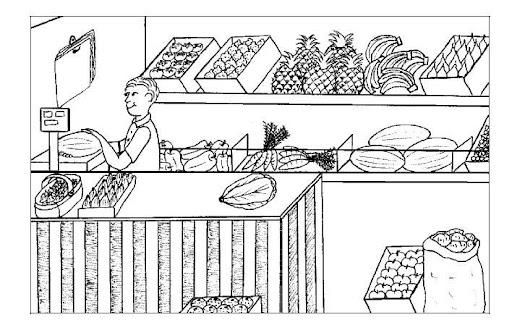 Dibujos de comercios para colorear - Imagui