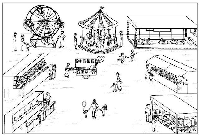 Pintar dibujos de comercios for Como iluminar un parque