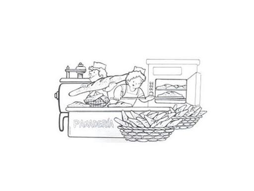 Dibujos de panaderia para colorear - Imagui