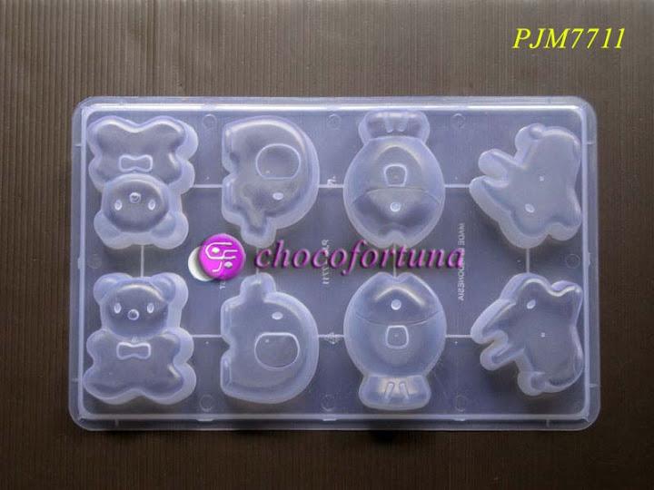 Cetakan Coklat binatang hewan gajah ikan kelinci PJM7711