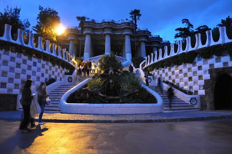 Парк Гуэля. Парадная лестница