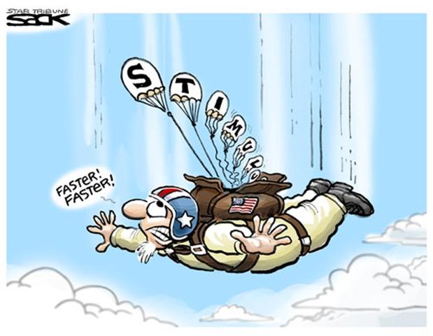 stimulus-parachute
