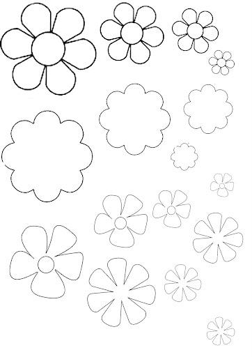 De Los Colores Que Quieras Tijeras Pegamento Molde De Flores