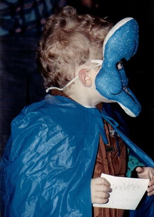 Kale in Crest Toothpaste costume 1989