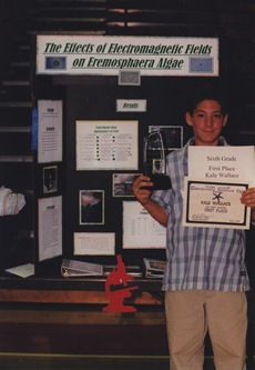 Kale at science fair 6th grade
