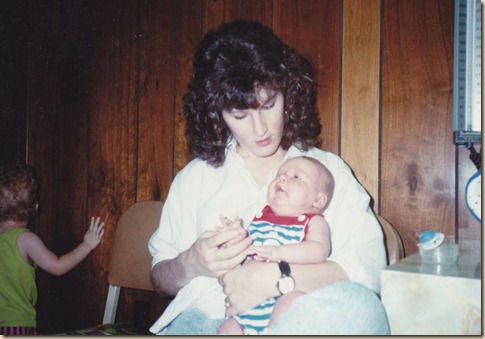Tyler's first checkup 1989