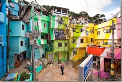 Repeindre les favela, Santa Marta, Brésil-13