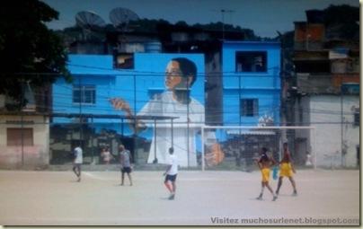 Repeindre les favela, Santa Marta, Brésil-17