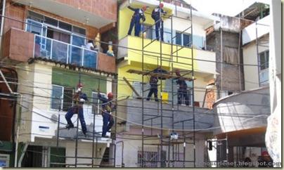 Repeindre les favela, Santa Marta, Brésil-1