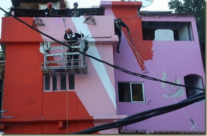 Repeindre les favela, Santa Marta, Brésil-3