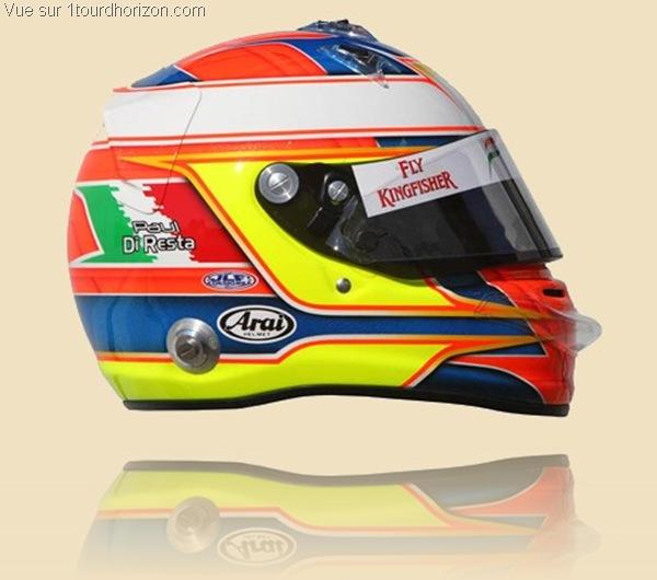 Casque des pilotes de formule 1 - Paul Di Resta