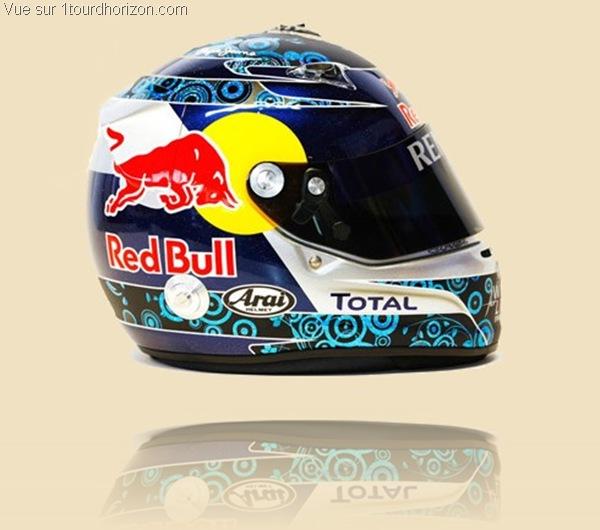 Casque des pilotes de formule 1 - Sebastian Vettel