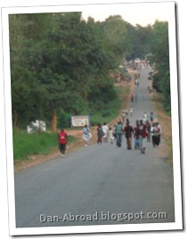 Driving into Mpamba along the M5 (it's a little busy because this picture was taken on a Market Day)