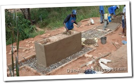 Covering the wash station in concrete, and filling the rest of the civil works with gravel