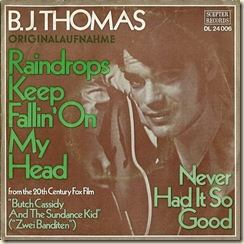 BJ Thomas Raindrops German sleeve