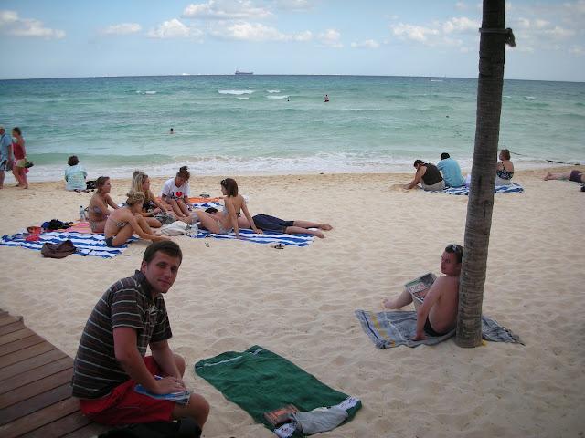 Piekne plaże, ale coś zachmurzone