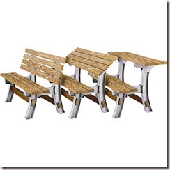 Convertible Picnic Table Legs2