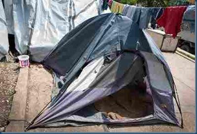 torn tent