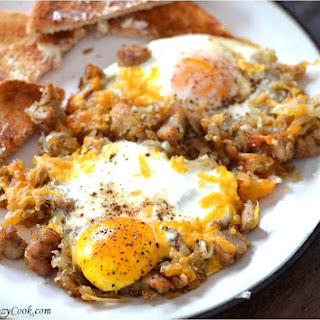 Crispy Hash & Eggs Breakfast Skillet