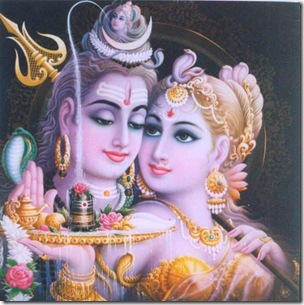 Shiv Parvati with linga