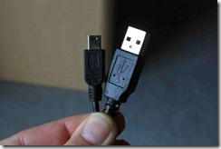 usb cable ends side