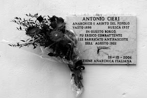 plaque honoring Antonio Cieri; source, anarca-bolo.ch/a-rivista/322/