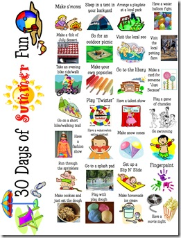 Summer Fun Activities copy
