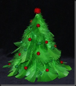 Feather-christmas-Tree-craft