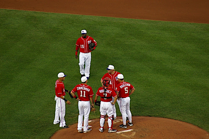 Conference at the mound