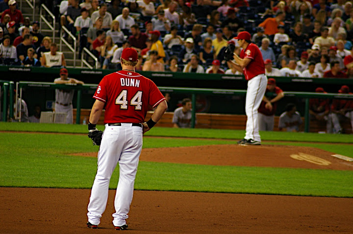Dunn watches Lannan at work