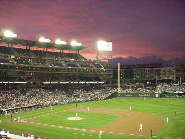 Sunset at Nats park
