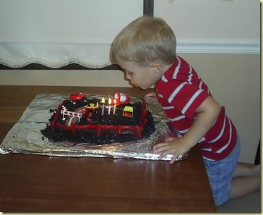 blowing out birthday candles