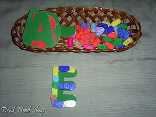 die-cut letters with better blocks