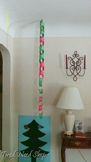 finished paper chain