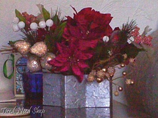 christmas arrangement finished