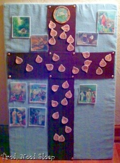 Lenten cross, half way through Lent
