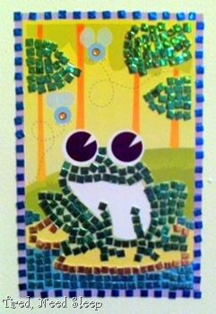 finished frog mosaic