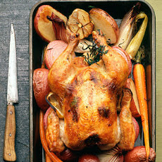 Lemon Tarragon Roast Chicken with Vegetables