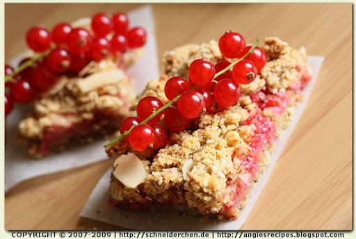 Red Currant Streusel Bars