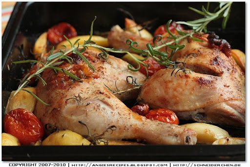 chicken and potatoes are fork tender brush the chicken with maple ...