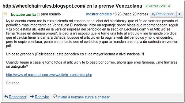 Gmail - http---wheelchairrules.blogspot.com- en la prensa Venezolana